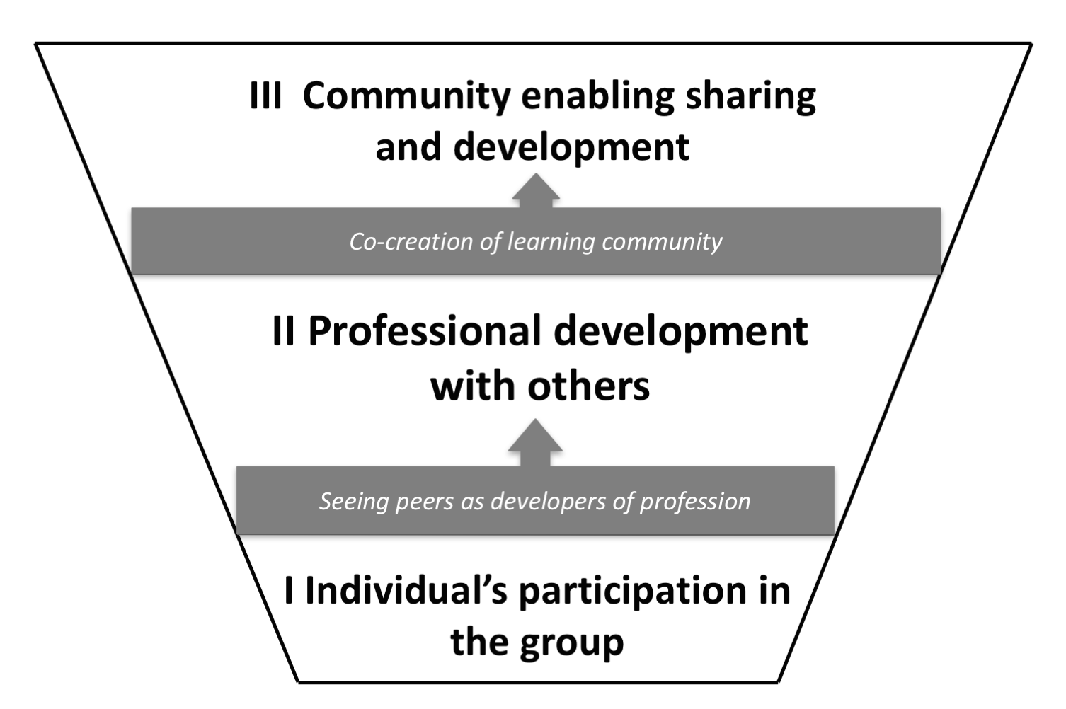 Hierarchically organized core categories of the phenomenon of peer groups and critical aspects expanding the categories