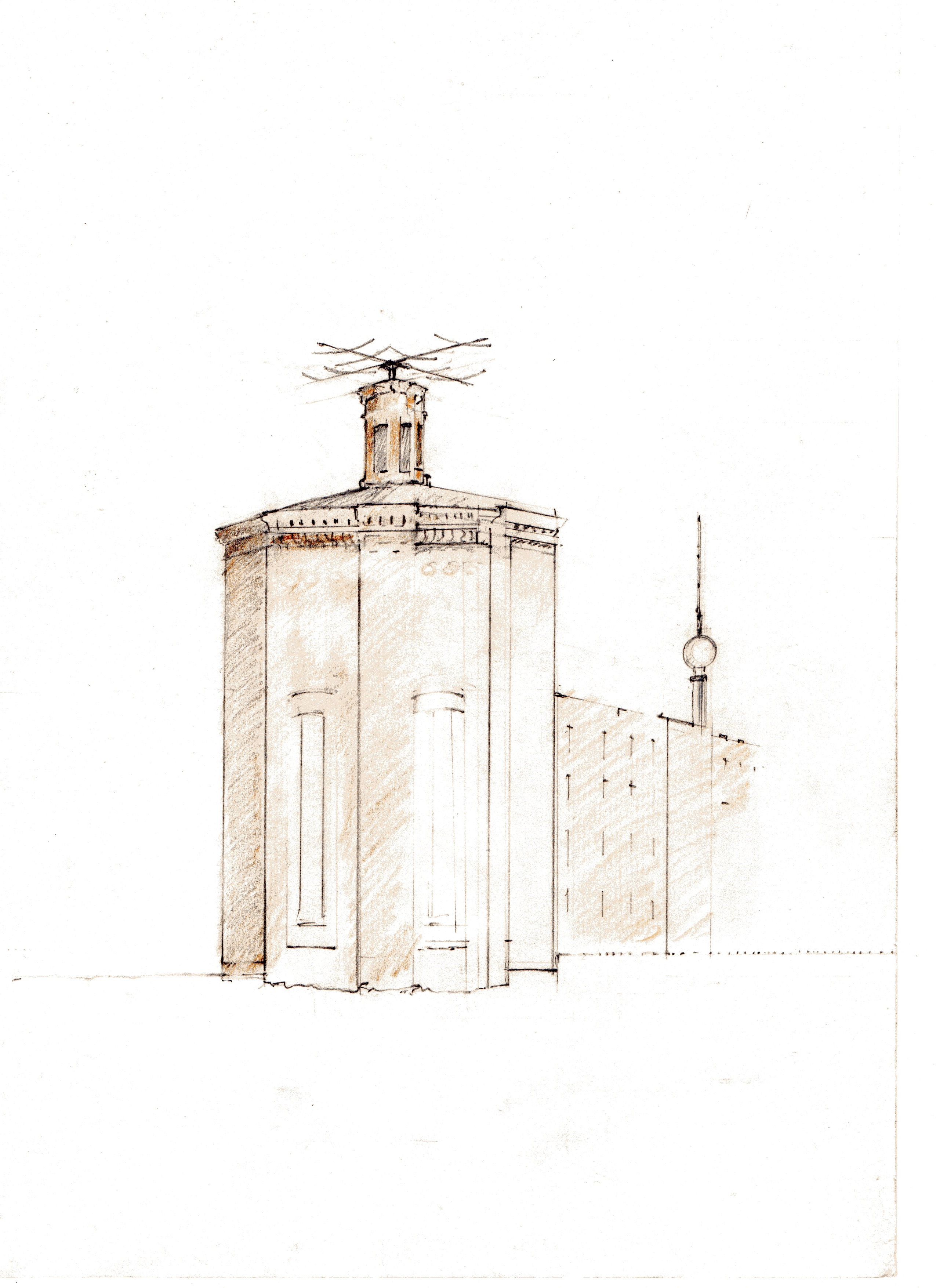 Water Tower Initial Drawing