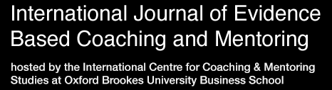 Banner image of the International Journal of Evidence Based Coaching and Mentoring